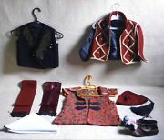 Greek Traditional Tsolias Vest Fez Shoes Red Belt Lot Used + 4 More Items Vtg