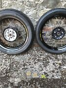 Triumph Street Twin T100 Tubeless Wheels. Excel Rims Fitted With Avon Tyres