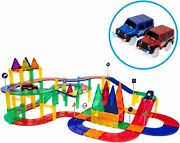 80 Piece Learning Construction Kit With 2 Led Light Race Cars Toys For Kids