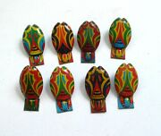 Vintage Tin Tinplate Toy Set Of 8 Beetle Clickers Noisemakers 1950's Japan