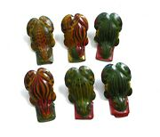 Tin Tinplate Toy Set Of 6 Frog Frogs Clickers Noisemakers 1940and039s Germany