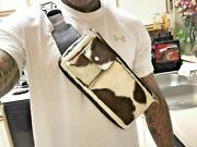 Cowhide Chest Bag Leather Hunting Fishing Waist Pack Casual Fanny Camping Pack