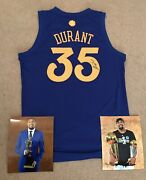 Kevin Durant Kd Signed Golden State Warriors Nba Basketball Jersey Nets Proof