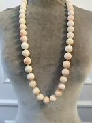 Rebecca Collins Light Angel Coral Long Necklace