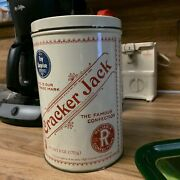 Vintage 6 Oz. Cracker Jack Tin Canister Box 1980and039s Replica Of 1900and039s Tin