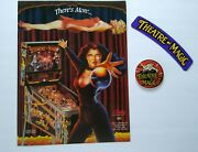 Bally Theatre Of Magic Pinball Machine Flyer + Keychain + Decal Nos 1995 Theater