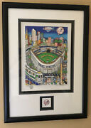 Charles Fazzino 3d - Letandrsquos Go Yankees Framed With Extra Yankee 3d Logo