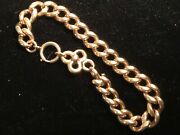 Victorianandnbsprose Gold Bracelet Made From Part Of 14 Watch Chain 14 Clasp 8 43g