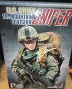 1/6 Scale Hot Toys Us Army 10th Mountain Division Sniper Mib