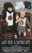 Indygo Junction Doll Clothes Sewing Pattern Lady Bugs And Bumble Bees 17 - 19