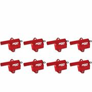 82868 Msd Ignition Coils Pro Power Series '99-'06 Gm Ls Truck Style, Red, 8-pack