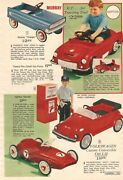 Vintage 1969 Pedal Cars Bicycles Trikes Toy Catalog Ad Print