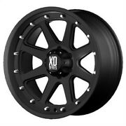 4 New 17x9 Kmc Xd Addict Black Wheel/rim 6x139.7 6-139.7 6x5.5 17-9 Et18