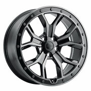20x8.5 Redbourne Morland Gloss Black W/brushed Face Wheels 5x120 25mm Set Of 4
