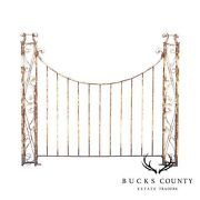 Vintage Wrought Iron Garden Fence Section