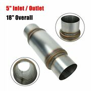 High Performance Exhaust Muffler 5 Inlet / Outlet 18 Inch Overall Resonator