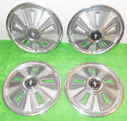 1966 Ford Mustang Fastback Coupe Convertible Original Wheel Covers Hub Caps Set
