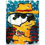 Tom Everhart- Hand Pulled Original Lithograph Undercover In Beverly Hills