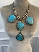Vintage Turquoise And Silver Necklace