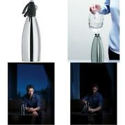 Isi Steel Soda Water Siphon 1 Quart Stainless/black