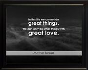 Mother Teresa In This Life Poster Print Picture Or Framed Wall Art