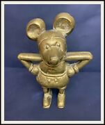 ⭐ Disney Mickey Mouse French Cast Brass Bank - 1930and039s - Disneyana.it ⭐