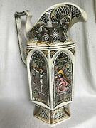 Stations Of The Cross Vintage Ceramic Pitcher Artist Charles Meigh Style Replica