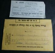 1965 Payment Envelope And Receipt Of Franks Dry Goods Company Fort Wayne In