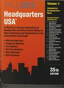 Headquarters Usa 2013 A Directory Of Contact Information For Headquarters