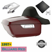 Billiard Red King Tour Pack Pak For Harley Street Road Electra Glide 97+