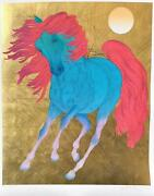 Guillaume Azoulay- Serigraph On Paper With Hand Laid Gold Leaf Monarque