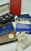 Small U.s. Coin Collection- 24k Gold Plated Coins- Eisenhower Dollars-mint Sets