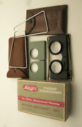 Pocket Stereoscopes 2 Cases - Antique Vintage Map 3d Viewing Spy Optical Old