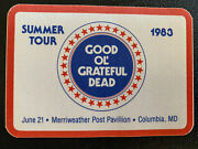 Grateful Dead Backstage Pass 6-21-83 Columbia Maryland