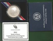 Usa Silber Dollar 2011 Medal Of Honor Ehrenmedaille Uncirculated St