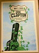 2017 Eric Clapton Tampa Highway Sign Guitar Case Concert Poster /160 Ford S/n