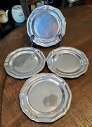 Wilton Armetale Queen Anne Bread And Butter Plates X 7 Glossy Exc Cond