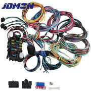 12v 21 Circuit Wiring Harness 18 Fuses Universal For Street Rod Wires Harness