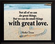 Mother Teresa Not All Of Poster Print Picture Or Framed Wall Art
