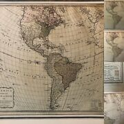 """America North And South Divided 1789 Map Printed For Robert Sayer 24"""" X 17"""""""