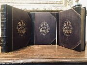 War Against The South Old Books Rare 1862 Many Illustrated Plates Great Cond.