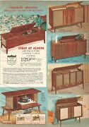 Vintage 1965 Coffee Table Stereos And Hohner Accordions Catalog Page Print Ad