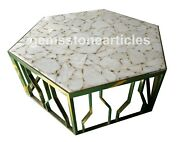 42 White Stone Agate Top Adornment Hallway Table Decoration Collectible Gift