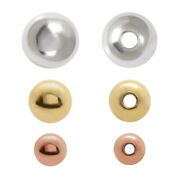 Sterling Silver Round Spacer Beads For Jewelry Making Choose Plating And Size
