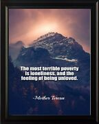 Mother Teresa The Most Terrible Poster Print Picture Or Framed Wall Art