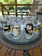 Mcdonalds Pittsburgh Steelers Hall Of Fame Set Of 4 Glasses From 1990