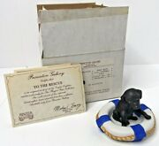 Princeton Gallery 1990 To The Rescue Playful Pups Figurine Black Lab Sailing