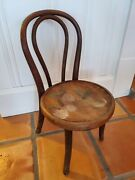 1 Vintage Thonet Style Bentwood Child's Chair With Painted Seat