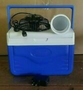 Onos Mini 5qt Blue Portable Swamp Cooler Air Conditioner 4 Usb Fan And Adapter
