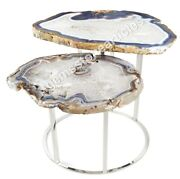 16 Agate Cafeteria Top Collectible Table Drowing Room Decoration Art Gift Her